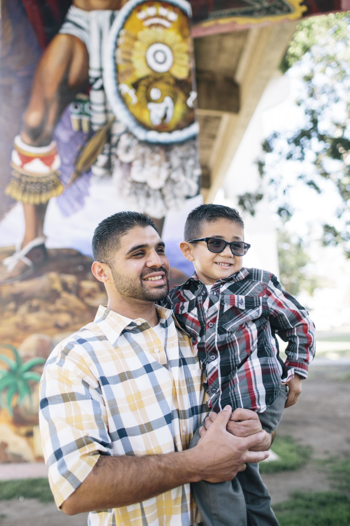 David De La Peña, 27, is a single father raising his son David, 4, in San Diego. When the recession threatened the construction work he was doing, he walked door to door asking for a job at more than 20 different plants. He found one at New Leaf Biofuels where he has worked his way up to be a plant operator.
