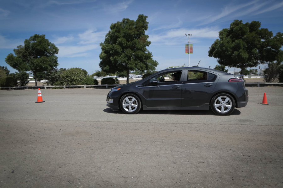 Valley CAN arranged a test drive course at the fairgrounds on this particular Saturday, where Tune Up participants could test drive a Chevy Volt, Chevy Spark EV and an electric Fiat.